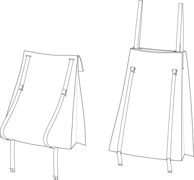 Technical drawing of the Toteback